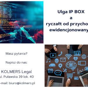 Ulga IPBox a ryczałt od przychodów ewidencjonowanych